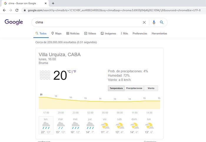 clima google