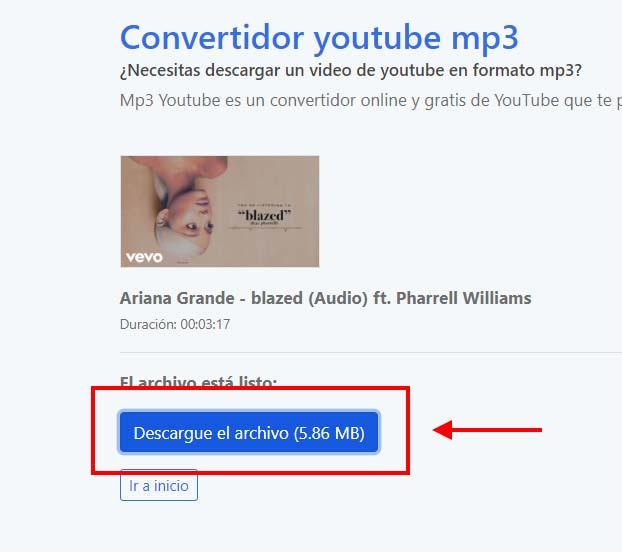 pasos para sacar audio de video youtube