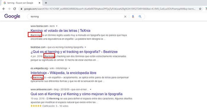 truco google kerning