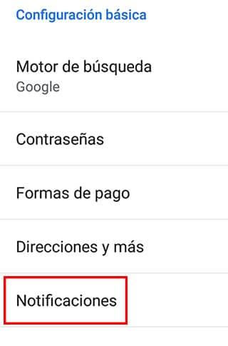 configurar notificaciones en dispositivos android