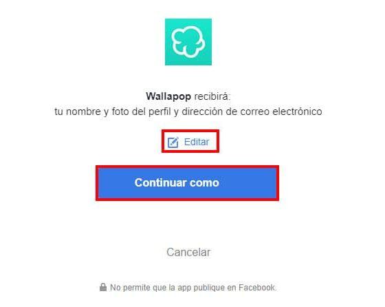 crear cuenta wallapop con facebook