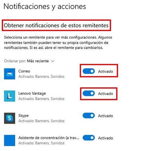 desactivar manualmente notificaciones de chrome