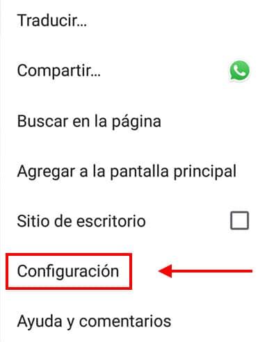 desactivar notificaciones chrome en dispositivo android