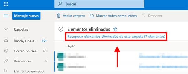 recuperar mails eliminados de hotmail