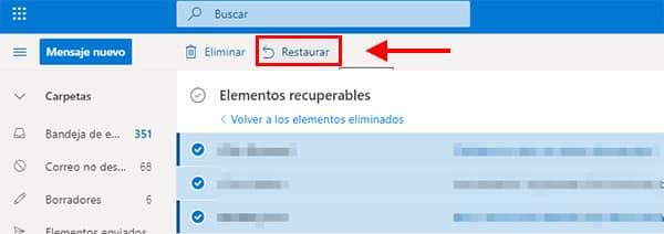 restaurar correo electronico hotmail