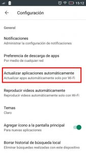 actualizar google services