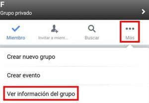 archivar grupo en facebook 1