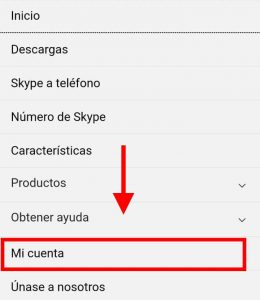 cambiar la contraseña de cuenta skype