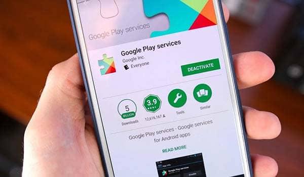 como actualizar google play services