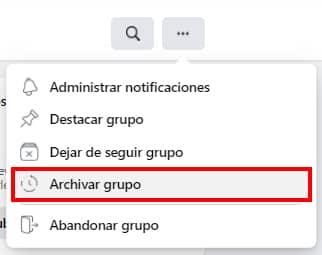 como archivar un grupo en facebook