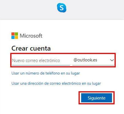 como crear cuenta skype