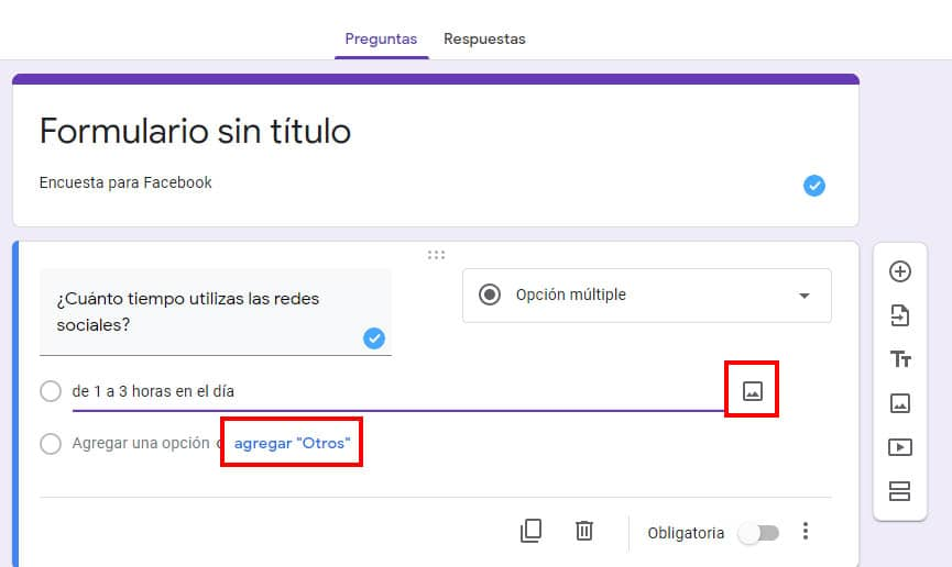 como hacer encuesta para facebook desde google