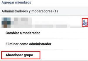 eliminar grupo facebook