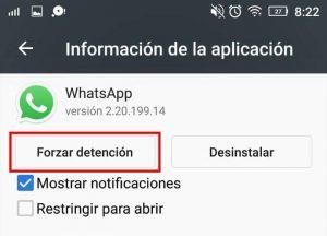 forzar detencion en whatsapp