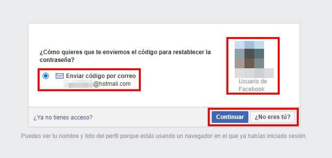 paso 4 para recuperar facebook