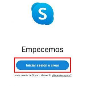 registrarse en skype