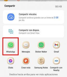envia a whatsapp