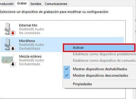 activar microfono para facebook en windows