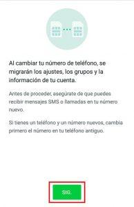 cambiar numero de telefono whatsapp