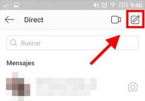 como se crea un grupo de chat en instagram