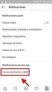 como se desactivan notificaciones instagram
