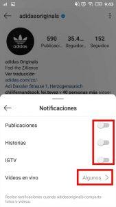 configurar instagram para recibir notificaciones de una persona