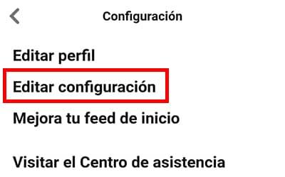 editar configuracion