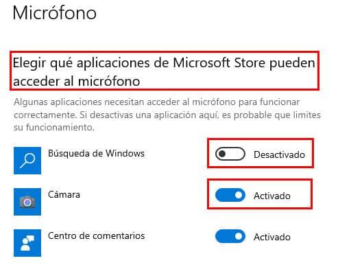 elegir que aplicaciones utilicen microfono en windows