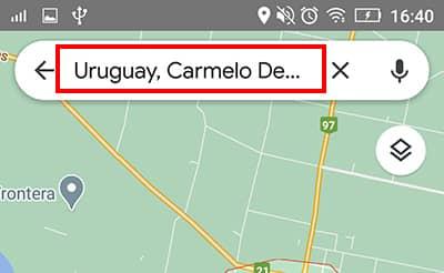 escribir direccion google maps