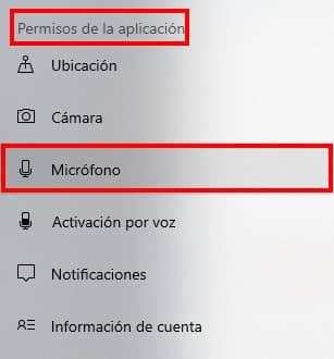 habilitar permisos para microfono en windows