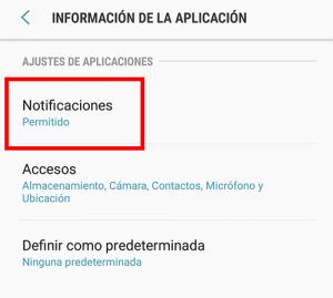 notificaciones permitido