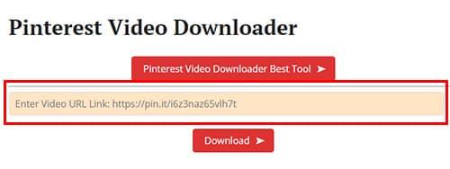 obtener url para descargar video pinterest