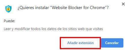 pasos para bloquear sitios web en chrome