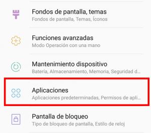 seleccionar aplicaciones