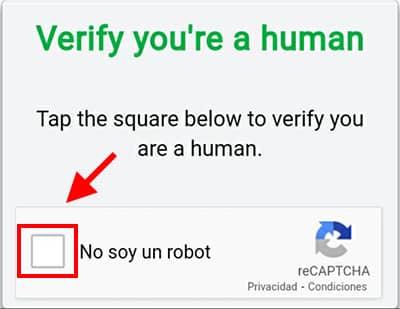 verificar no soy un robot