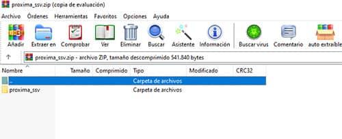 abrir archivo rar