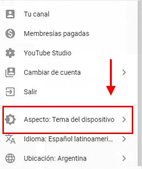 activar modo oscuro youtube en pc