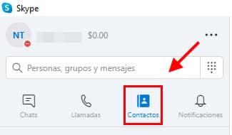 clic en contactos