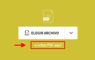 clic en soltar pdf aqui