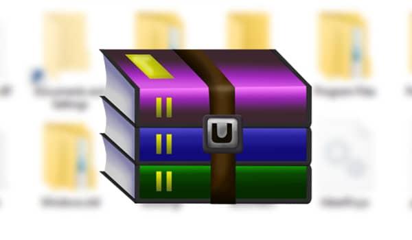 como crear un archivo rar