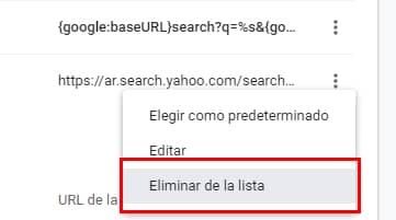 como sacar yahoo search de chrome