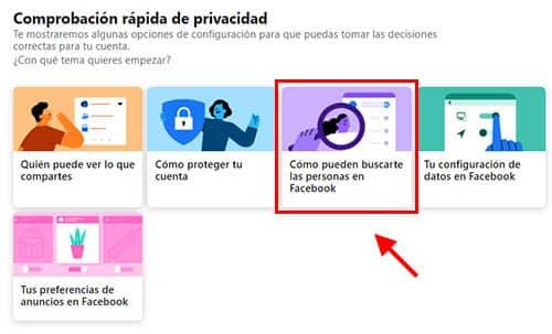 configurar como pueden buscarme las personas en facebook