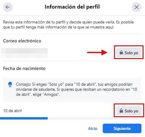configurar privacidad de perfil facebook