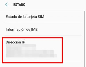 direccion de ip privada