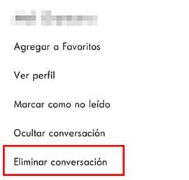 eliminar conversacion en aplicacion skype