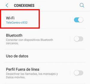 ingresa a wifi