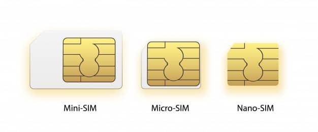 las medidas de una tarjeta sim