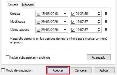 modificar fecha en un archivo