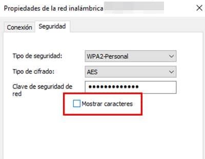 mostrar contraseña wifi