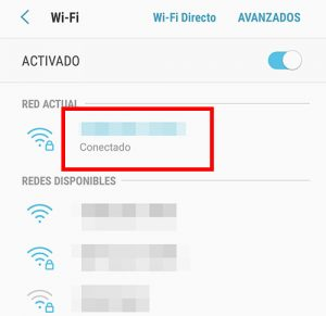 selecciona la red wifi